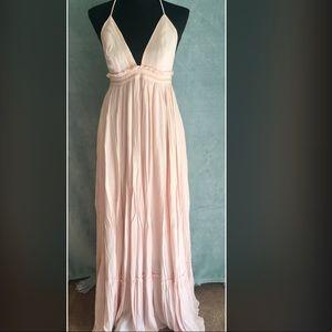 Modern Vintage Boutique Light Peach Maxi Dress
